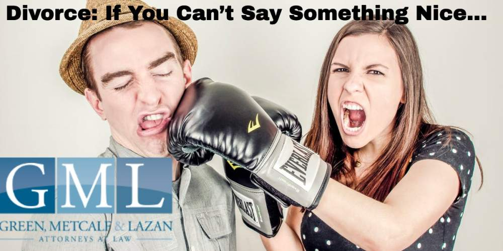 Divorce: If You Can't Say Something Nice…