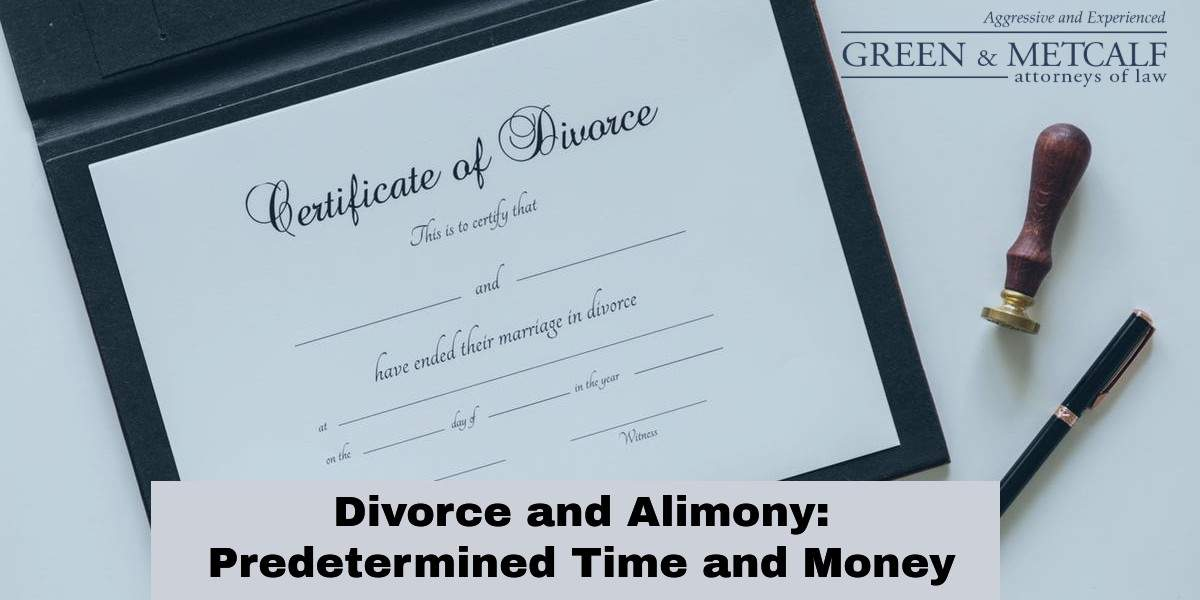 Divorce and Alimony:  Predetermined Time and Money